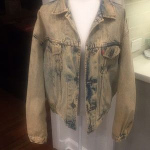 Jean jacket loose fit large WAG